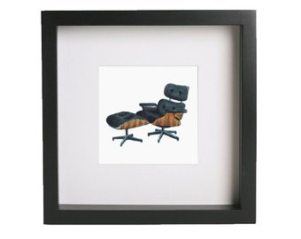 Eames Mid-Century Chair Print (Framed)