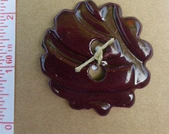 Ceramic glazed Clay buttons Handmade