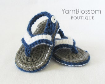 Baby CROCHET PATTERN - Baby Flip Flops - Instant Download, PDF pattern, baby sandals, baby shoes, crochet sandals