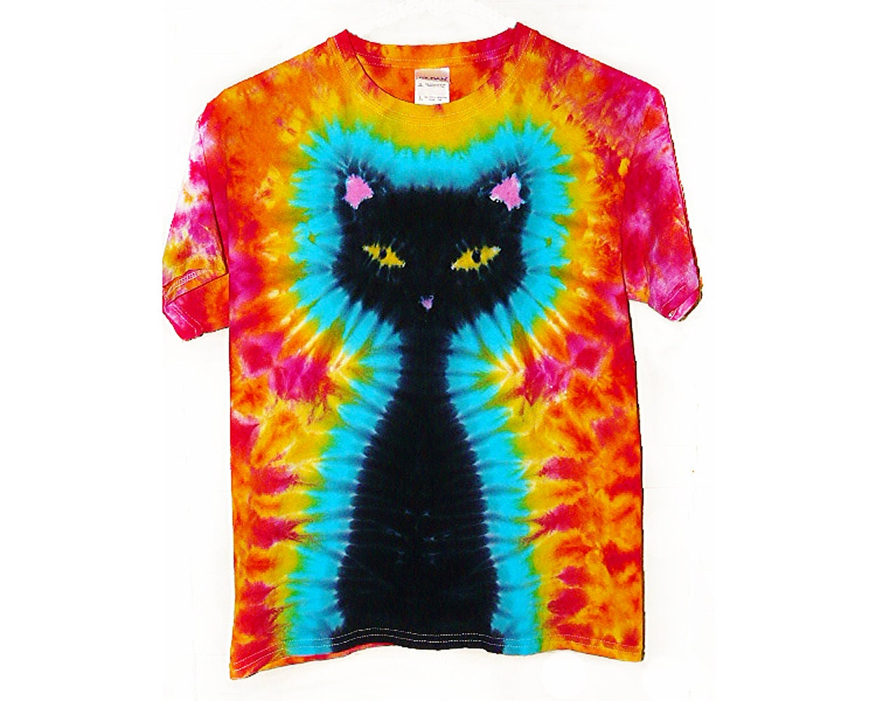 tie dye shirt black cat tie dye design eco friendly