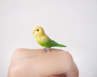 Cute love parrot ring