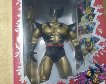 """X-Men Metallic Mutants Wolverine 10"""" Action Figure 1994"""