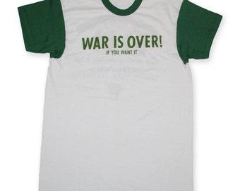 John Lennon Yoko Ono War is Over Promo Shirt  1970s vintage