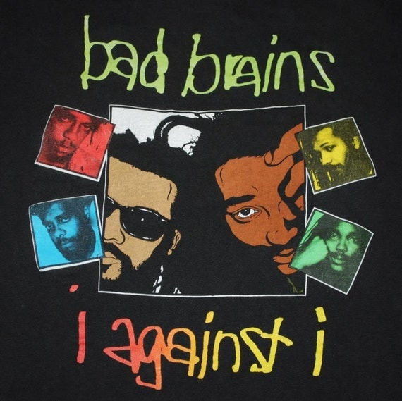 Bad Brains I Against I Promo Shirt 1986 Vintage By Wycovintage