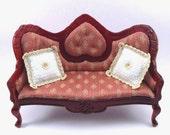 1:12 Pillows White Crocheted Dollhouse Miniature Cushions with Gold Trim Dollhouse Miniatures Artisan Miniaturejoy (7)