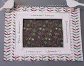 Ultrasound Frame Sonogram Frame or Mat only with Bible Verse - Red, Green & Black - Leaves and Flowers - Gender Neutral 5x7