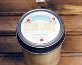 Lemon Cookie Soy Wax Candle in 8 oz. Jelly Jar - Lemon Citrus Candle for Birthday, Spring, Summer, Air Freshener, Housewarming, Hostess Gift