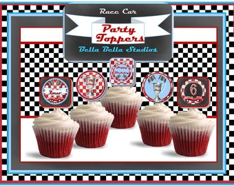 CAR CUPCAKE TOPPERS ~ Personalized Printable Download