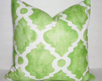 Decorative Pillow Cover Kiwi Green Geometric Pillow Cover Throw Pillow Cover Choose Size
