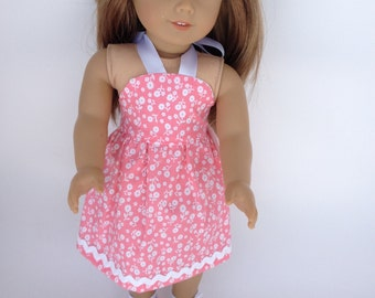 18 inch Doll Clothes,  Melon Summertime Dress