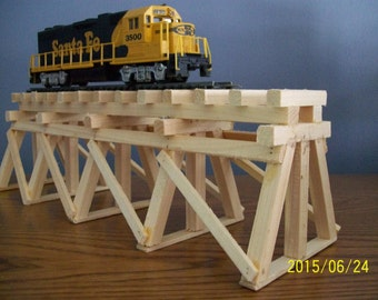 Railroad Party Decorations: WOODEN TRAIN TRESTLE // Paintable // Stainable // Railroad Themed Parties // Ready to paint or stain project