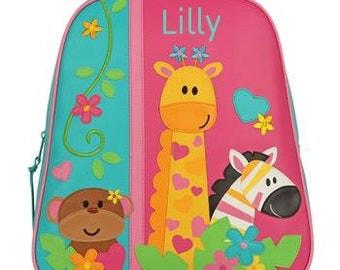 Personalized Backpack Stephen Joseph GoGo Bag Zoo Girl