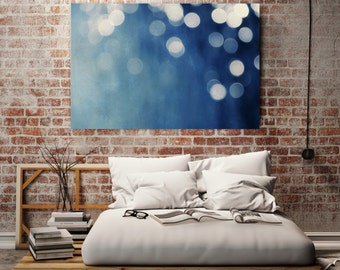 abstract giclee art print on canvas //  huge indigo abstract art canvas  // soothing art - Indigo Dream, 60x40 photograph on canvas