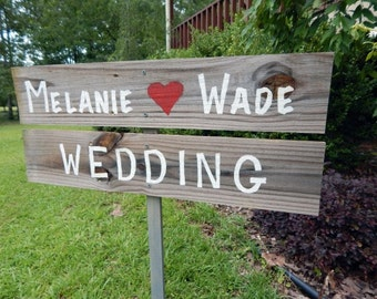 rustic wedding sign. Reclaimed wood. Outdoor wedding. Country wedding.
