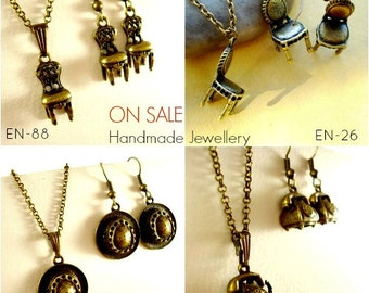 Buy1 Get 1 Free -Silver Swallows-Tree and Bronze Key-Owl 4 Necklaces NC-570