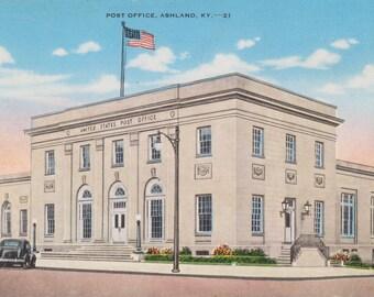 Ashland, Kentucky, Post Office - Linen Postcard - Unused (N)
