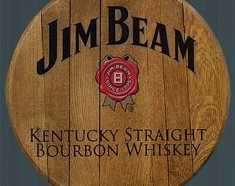 jim beam licensed authentic barrel head free shipping authentic jim beam whiskey barrel table