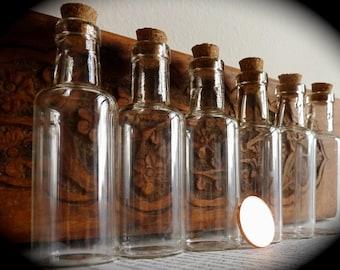 Mini Apothecary Perfume Bottles, Set of 6