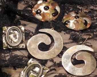 Vintage Earrings 3 Sets Circa 1980's