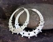Roma silver earrings