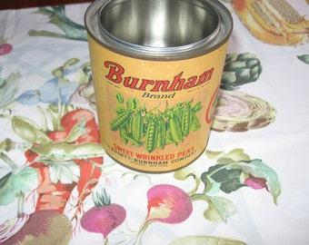 Burnham Brand Sweet Wrinkled Peas Can