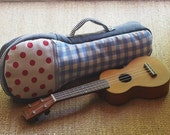 Soprano Ukulele Case - Pastel Ukulele Case with hidden pocket (Ready to ship)