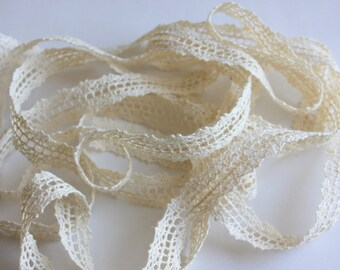 "5/8"" Crochet Lace Trim - Natural - 2 yards"