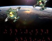 Awesome UFO Earrings! Close encounters Spaceship...