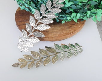 20%off:  10pcs  Large Silver Plated Leaves Filigree Charms31x 90mm (LV-11)