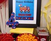 Printable FRAMEABLE Party Decor - You choose the Theme - Digital file DIY Thanks