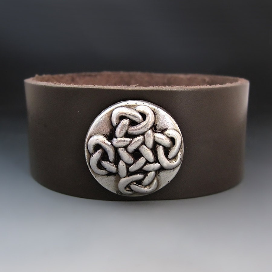 celtic cross bracelet women 39 s leather cuff love knot. Black Bedroom Furniture Sets. Home Design Ideas