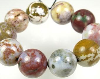 Ocean Jasper Round Bead - 12mm - 10 Pieces - B3405