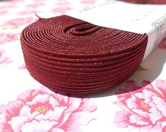 "Colored Elastic Headband Burgundy 5/8"" width metres"
