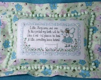 Sweetheart Tree My Little Tooth Fairy Pillow Counted Cross Stitch Kit