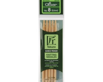 """Clover Bamboo 5"""" Double Pointed Knitting Needles in a Variety of Sizes"""