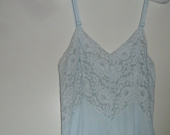 Vintage Slip Aristocraft by Superior Full Blue Size 34
