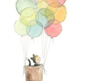 Imagination Balloon Basket  Print