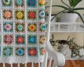 All 5 steps of the Granny Rose Pattern - Pastel Blanket (Instant Download)