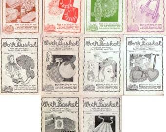 Aunt Martha's WorkBasket Volume 9 c1943-1944 magazine