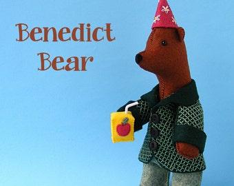 Benedict Bear - felt softie pattern PDF
