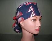 Atlanta braves ponytail scrub cap