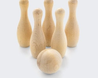 Bowling Game-wood toy-Birthday toy -Rainy Day Toy