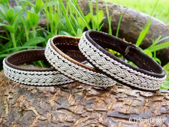 Viking Bracelet MJOLNIR Sami Swedish Lapland Bracelet Custom Handmade Nordic Elegance in Dark Brown Lambskin with Pewter Braid and Antler