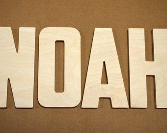 """Nursery Decor Wooden Letters, Single Wooden Letter, Wall Decor Wall hanging, Wooden Letters for Nursery- 8"""" Size"""