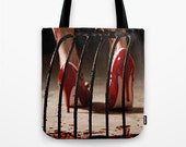 Candy Girl Horror Dark Art Tote Bag - NikytaGaia Photography