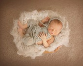 PDF Knitting Pattern - newborn photography prop_convertible cable pants and jumpsuit set #124