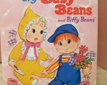 Cry Baby Beans and Biffy Beans Paper Dolls Book Uncut from Mattel