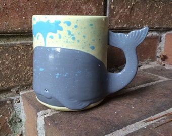 Mornings Blow Whale Mug