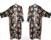 Romantic Wild Roses Kimono Made to Order from Reclaimed Fabric