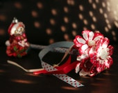 Red Felt and Button Flower Girl Wand Custom Colours!